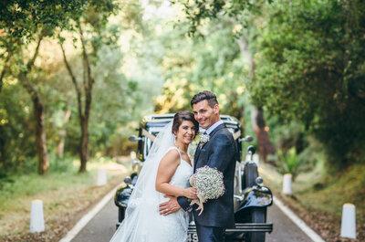 Una boda con toques rústicos y ecuestres: el gran día de Natalia y Paul