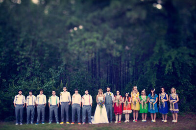 Kolorowe wesele - tęczowe inspiracje ślubne