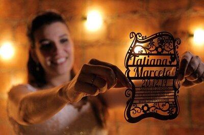 Decoração de casamento com corte a laser: personalização TOTAL!
