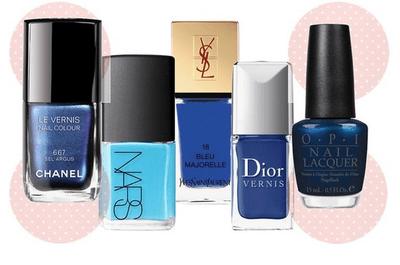 Uñas de ensueño: esmaltes en color azul para novia