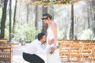 Mother-to-be Brides: How to Organize Your Wedding While Pregnant