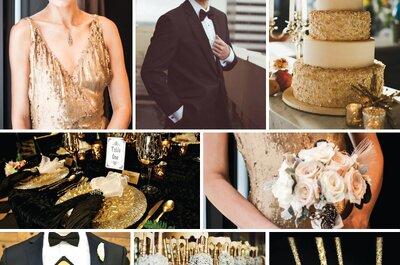 Cómo decorar una boda al estilo Gatsby: Lo mejor de los años 20 ¡en un día espectacular!