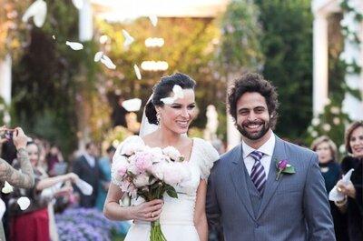 Casamento romântico ao ar livre: Adriana e Rodrigo