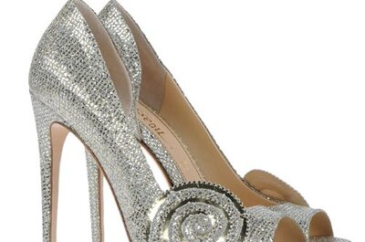 "Zapatillas de novia plateadas inspiradas en ""Oz"""