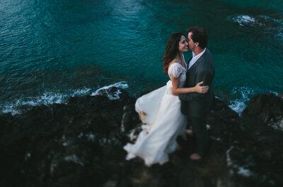 Casamento mágico no paraíso brasileiro: Daniella e Rogério em Fernando de Noronha