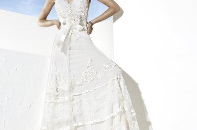 Suknie ślubne 2014: Yolan Cris Boho Girl