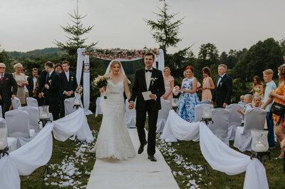 Plenerowy olsztyński ślub fantastycznej Pary- Justyny i Kacpra!