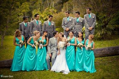 Decoración para boda en color turquesa