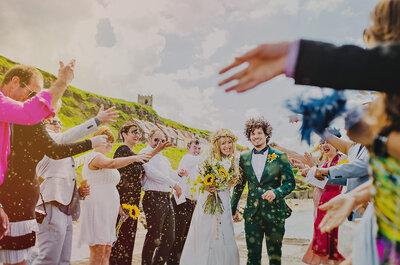 Real Wedding: La boda de Jess y Rodrigo, una ceremonia hipster chic, colorida y con tintes bohemios