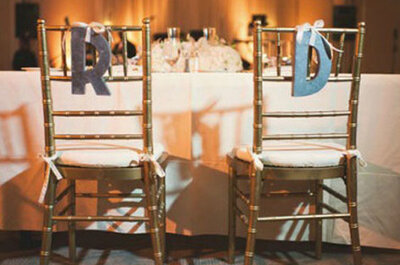 Ideas para decorar las sillas de tu boda