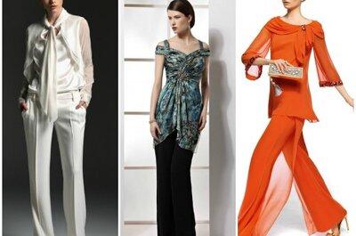 Invitadas elegantes y muy cómodas: pantalones para bodas 2013