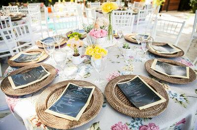 Romantische Hochzeitsdekoration mit Spitze