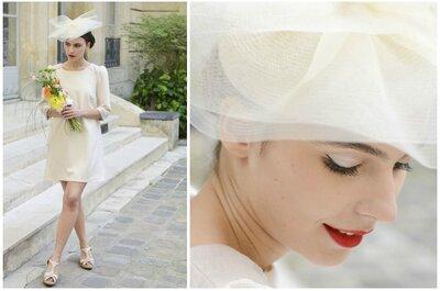 Luce radiante con los elegantes sombreros y tocados de Mademoiselle Chapeaux