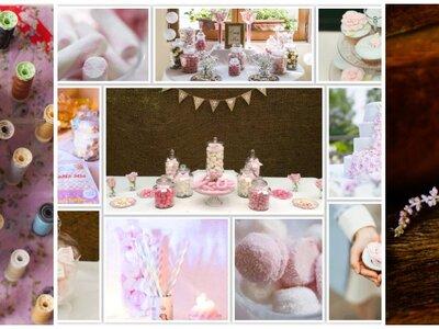 Real pink wedding romance in Paris. La Vie en Rose…
