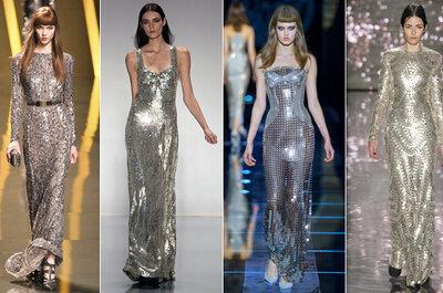 Noivas metalizadas: vestido de noiva prata