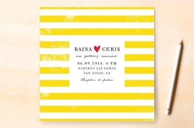 Ilustraciones, color y encanto: Las claves básicas para elegir el diseño de tus invitaciones de boda