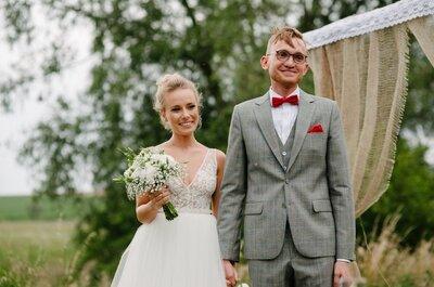 Ślub w Młynie Kowalewko, drewniane drogowzkazy i gipsówka. Wspaniały ślub!