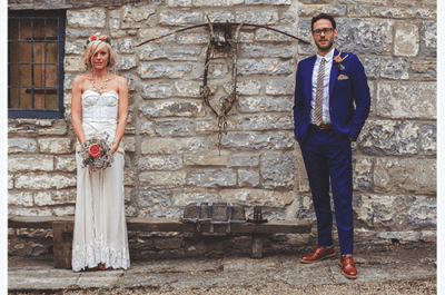 Real Wedding: Mariage Vintage Chic de Bella et Will