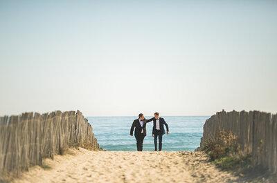 Benjamin & Daniel : une cérémonie en plein air fleurie pour un mariage