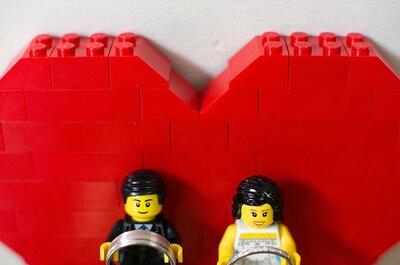 Lego? No casamento? Claro que sim!