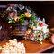 A bicicleta acomoda as mesmas flores do restante da decoração. Foto:  Carlos Leandro