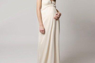 Opções de vestidos de noiva para grávidas