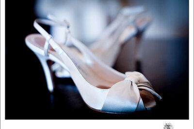 Zapatos de novia: ¿tacones altos o bajos?