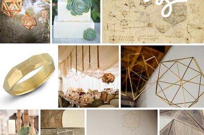 Formas y ángulos súper originales: Lo mejor de la geometría en la decoración de tu boda