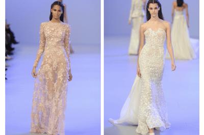 Inspírate en la colección alta costura de Elie Saab para elegir tu vestido de novia 2014