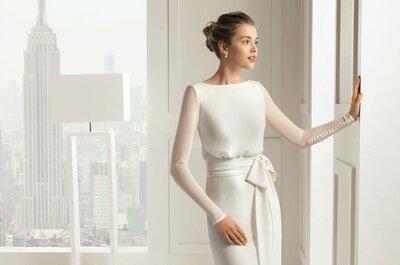 Vestidos de novia de manga larga para climas fríos