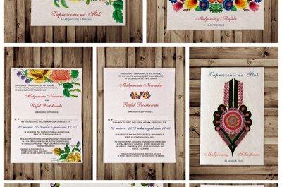 Zaproszenia ślubne w ludowym stylu, czyli rustykalne wesele po polsku