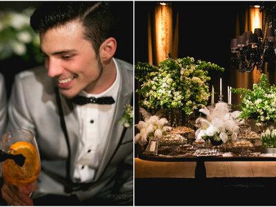 Casamento vintage de Gustavo e Rogério: de volta aos anos 20 em uma festa divertida e charmosa!
