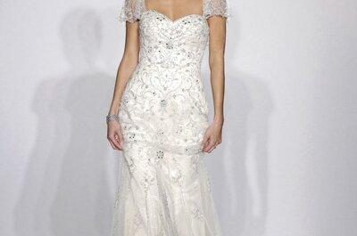 Tendencia must: Vestidos de novia 2014 con mangas cortas