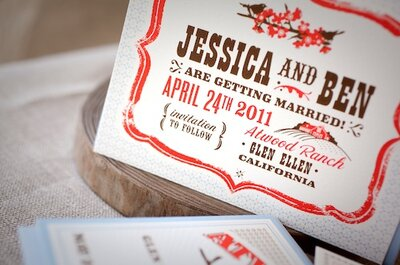 Hello!Lucky wedding stationery - American design for UK couples