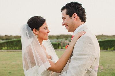 Real Wedding: Fantasía, glamour y acentos en color rojo; todo esto y más en la boda de Mariana y Rafa