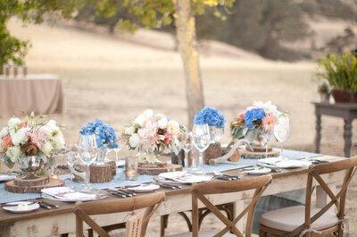 30 hermosos montajes de boda para una recepción al aire libre: No te cansarás de ver estas imágenes