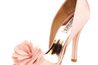 Zapatos de novia de color rosa