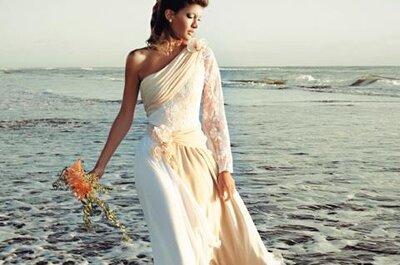 Was ziehe ich als Braut zu einer Strandhochzeit an? Brautmoden-Trends 2013