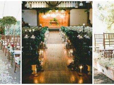 Las mejores propuestas para la decoración del camino hacia el altar de tu boda 2016