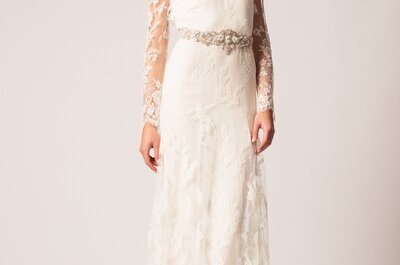 Vestidos de novia Temperley London 2015: ¡dale un toque romántico y femenino a tu figura!