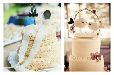 Ideas para los toppers de la tarta nupcial ¡La guinda del pastel!