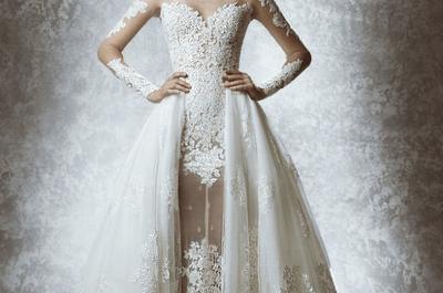 Zuhair Murad otoño 2015: Vestidos de novia con siluetas ceñidas, preciosos encajes y toques de sensualidad