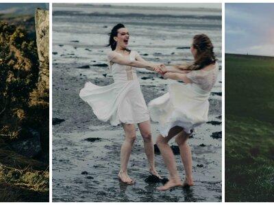 Collection Caroline Quesnel 2017 : inspiration celtique pour des mariées sensuelles au naturel