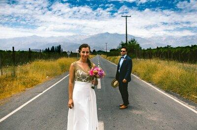 Bernardita y Alejandro, color y música latina para celebrar el amor