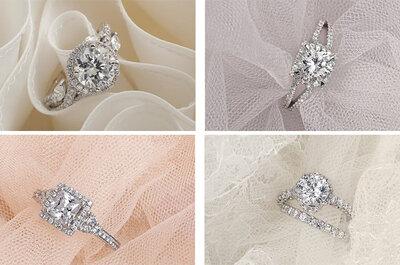 Romántica colección de anillos de compromiso 2013 Monique Lhuillier