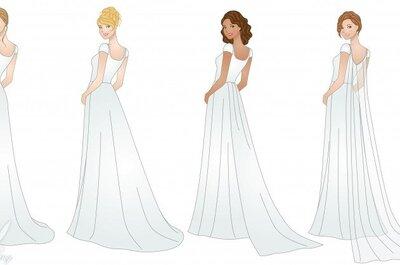 Jaki tren wybrać? Rodzaje trenów do sukien ślubnych.