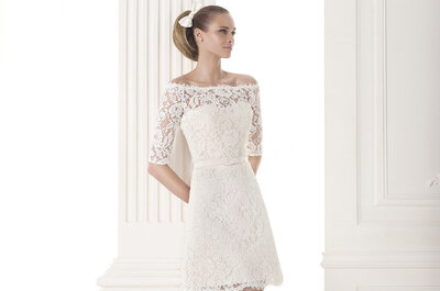 Lace sleeves in the new collection by Pronovias 2015