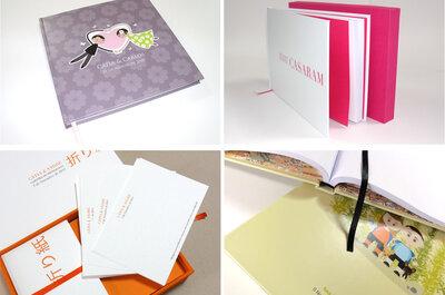 Libros y tarjetas de buenos deseos para los novios
