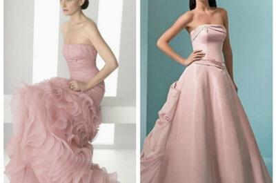 Vestidos na cor rosa para noivas