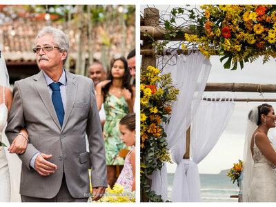 Casamento na praia de Bruna & Jackson: Brasil e Austrália se unem nessa celebração tropical em Búzios